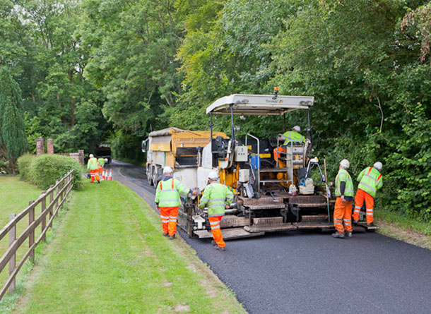 Resurfacing works © Copyright Peter Facey and licensed for reuse under the Creative Commons Licence