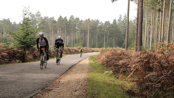 Forest Conqueror cyclists