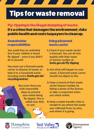 Fly tipping flyer